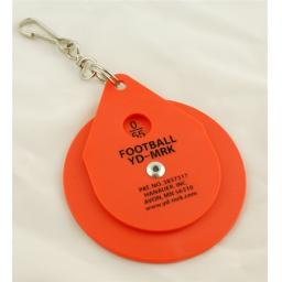 Clip on Chain Yardage marker dial plastic