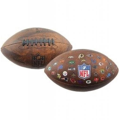 Wilson NFL Junior Throwback 32 team logo ball