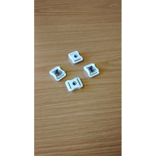Xenith Plastic Snap Buckle x 4
