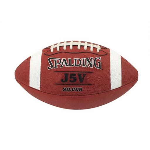 Spalding J5V SILVER Leather Football