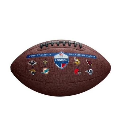 Wilson NFL London composite logo ball