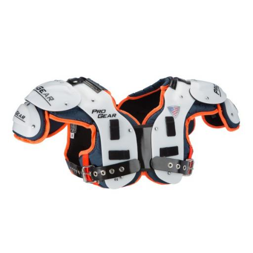 Pro Gear Player Series OL/DL/Snapper shoulderpads Black/Red Trim