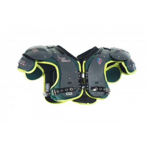 Pro Gear Alpha Series Skill Shoulder pads Black/Red trim