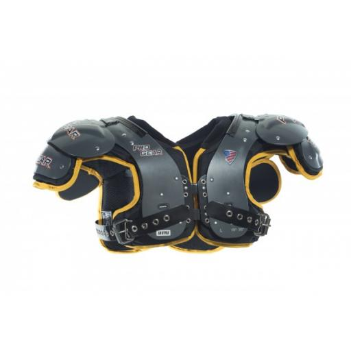 Pro Gear Alpha Series All Purpose Shoulder Pads Black/Red Trim
