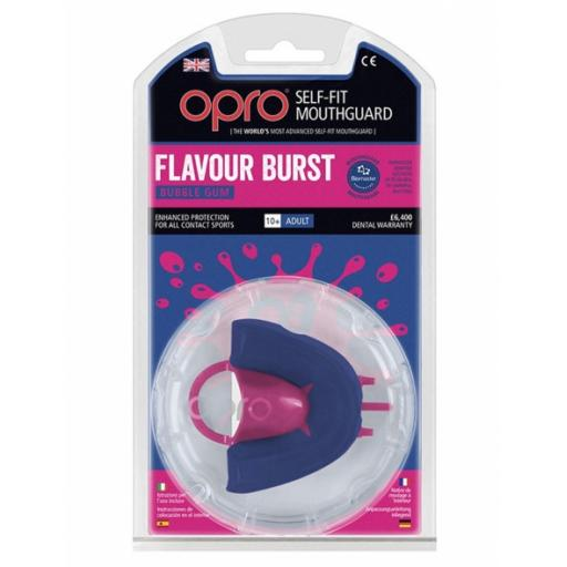OPRO Silver Flavour Burst Mouthguard